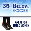 35 Below Socks As Seen On TV Product